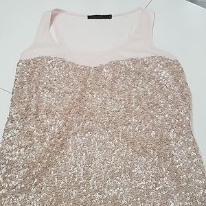 Beautiful Pink Sequined Tank